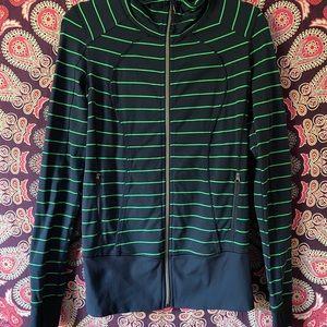 Lululemon striped zip up track jacket